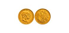 10Kronenoriginalgroesse Kronen Münzen