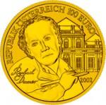 100 Euro Goldmünze Bildhauerei Wertseite e1327828525253 Goldeuro Österreich