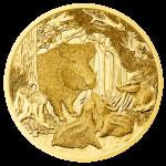 100 Euro Goldmünze Das Wildschwein Bildseite e1412840964688 Goldeuro Österreich