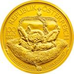 100 Euro Goldmünze Der österreichische Erzherzogshut Wertseite e1327830957340 Goldeuro Österreich