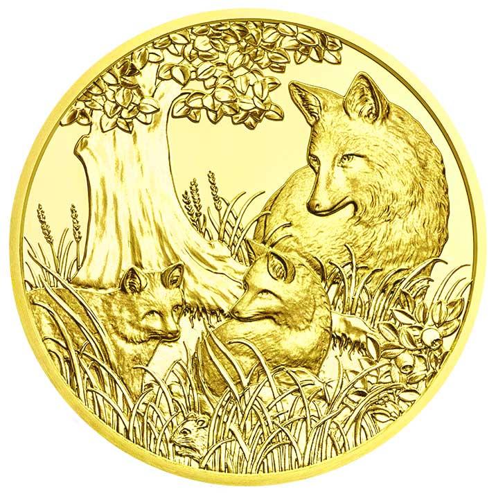 100 Euro Goldmünze Der Fuchs Bildseite 100 Euro Goldmünze Der Fuchs