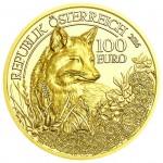 100 Euro Goldmünze Der Fuchs Wertseite