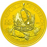 100 Euro Goldmünze Die österreichische Kaiserkrone Wertseite e1351669782105 Goldeuro Österreich