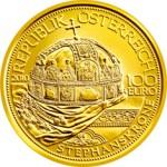 100 Euro Goldmünze Die Stephanskrone von Ungarn Wertseite e1327830979876 Goldeuro Österreich