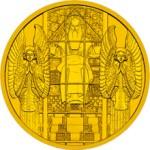100 Euro Goldmünze Kirche am Steinhof Bildseite e1327830109746 Goldeuro Österreich