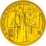 100 Euro Goldmünze Malerei Wertseite e1327828626275 Goldeuro Österreich