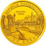 100 Euro Goldmünze Wienflussportal Wertseite e1327830195179 Goldeuro Österreich