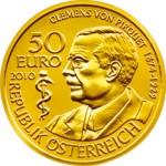 50 Euro Goldmünze Clemens von Pirquet Wertseite e1327831373394 Goldeuro Österreich