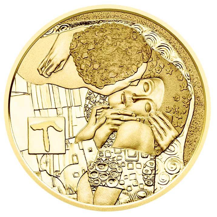 50 Euro Goldmünze Der Kuss Bildseite 50 Euro Goldmünze   Der Kuss