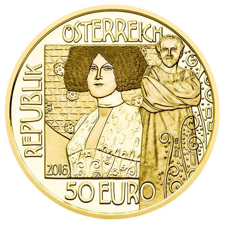 50 Euro Goldmünze Der Kuss Wertseite 50 Euro Goldmünze   Der Kuss