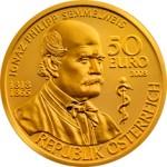 50 Euro Goldmünze Ignaz Philipp Semmelweis Wertseite e1327831706837 Goldeuro Österreich