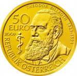 50 Euro Goldmünze Theodor Billroth Wertseite e1327831686454 Goldeuro Österreich