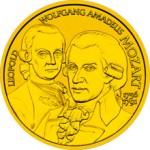 50 Euro Goldmünze Wolfgang Amadeus Mozarth Bildseite e1327828902508 Goldeuro Österreich