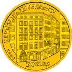 50 Euro Goldmünze Wolfgang Amadeus Mozarth Wertseite e1327828911651 Goldeuro Österreich