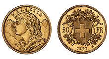 220px 20 CHF Vreneli Pattern 1897 Goldvreneli