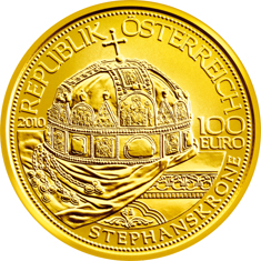 2811 Neue 100 Euro Goldmünze: Die Stephanskrone
