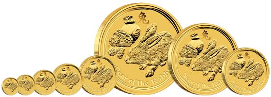 2011 Lunar Rabbit Group Gold Australischer Lunar 2011   Das Jahr des Hasen