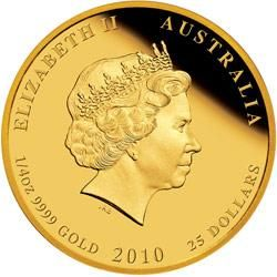 2292 Year of the Tiger Gold Proof Coin Obverse Australischer Lunar