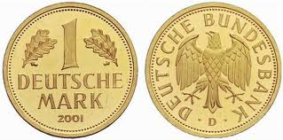 images3 Deutsche Mark in Gold