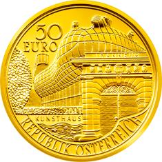 200 Jahre Joanneum Avers 50 Euro Goldmünze und Briefmarke – Joanneum in Graz
