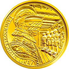 200 Jahre Joanneum Revers 50 Euro Goldmünze und Briefmarke – Joanneum in Graz