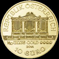 Wiener Philharmoniker Goldmünze Wertseite 1 10 Unze e1390378438200 Wiener Philharmoniker