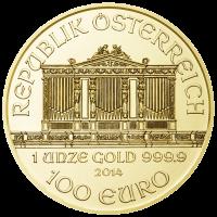 Wiener Philharmoniker Goldmünze Wertseite 1 Unze e1390378387919 Wiener Philharmoniker