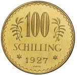 100 Schilling Avers 1. Republik 100 Schilling Goldmünze