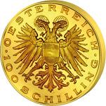 100 Schilling Avers 100 Schilling Goldmünze