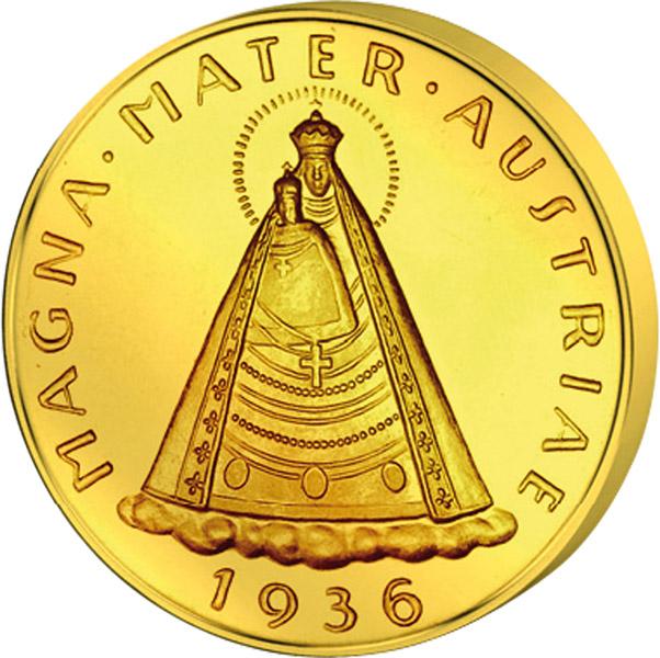 100 Schilling Revers 100 Schilling Goldmünze