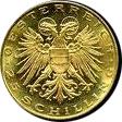 25 Schilling Goldmünze Leopold III. Avers 25 Schilling Goldmünze