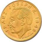 Franz Josep II Avers Liechtensteiner Goldmünzen
