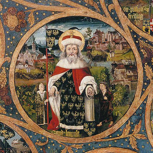 Herzog Leopold III. Babenberg 25 Schilling Goldmünze