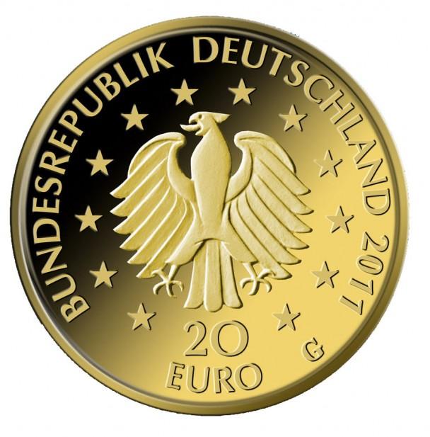 Deutscher Wald Buche 2011 Revers 608x617 Zweite Goldmünze deutscher Wald   Buche
