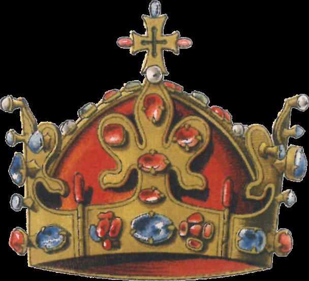 658px Str%C3%B6hl Regentenkronen Fig. 06 608x554 100 Euro Goldmünze   Die Wenzelskrone Böhmens