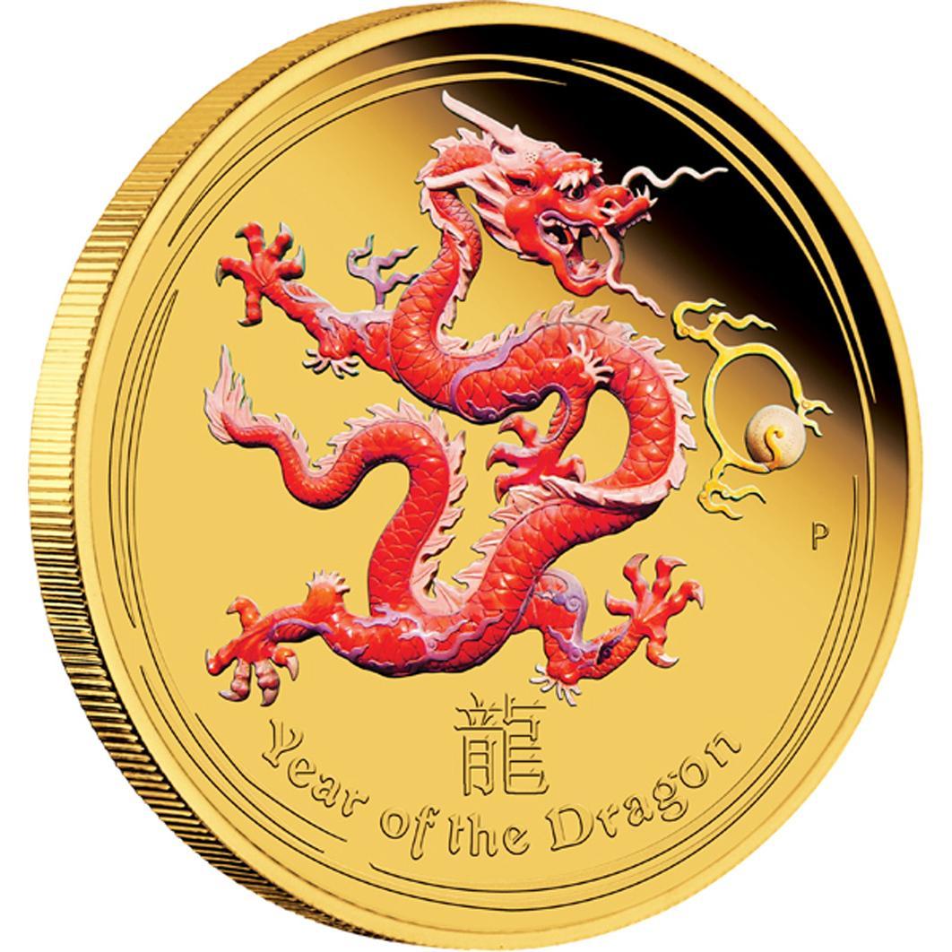 Australischer Lunar 2012 farbige Bildseite Chinas Hunger nach Gold Teil 1