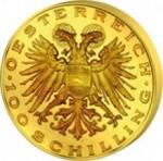 100 Schilling Avers Ständestaat e1327434258815 Schilling Goldmünzen
