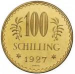 100 Schilling Revers 1. Republik e1327434272789 Schilling Goldmünzen