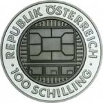 100 Schilling Silber Titan Bimetallmünze Kommunikation Wertseite e1330501349605 Österreichische Bimetallmünzen