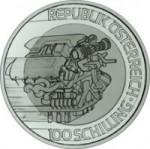 100 Schilling Sillber Titan Bimetallmünze Mobilität Wertseite e1330501310843 Österreichische Bimetallmünzen