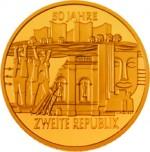 1000 Schilling Goldmünze 50 Jahre 2. Republik Bildseite e1327435067243 Schilling Goldmünzen