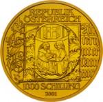 1000 Schilling Goldmünze Buchmalerei Wertseite e1327435689517 Schilling Goldmünzen