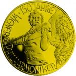 1000 Schilling Goldmünze Johann Strauß Bildseite e1327435265875 Schilling Goldmünzen