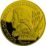 1000 Schilling Goldmünze Zauberflöte Wertseite e1327433923519 Schilling Goldmünzen