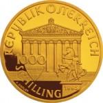 1000 Schilling Goldmünze Zeus Wertseite e1327435030943 Schilling Goldmünzen