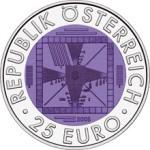25 Euro Niob 50 Jahre Fernsehen Wertseite e1330501974117 Österreichische Bimetallmünzen