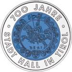 25 Euro Niob 700 Jahre Stadt Hall Bildseite e1330502007337 Österreichische Bimetallmünzen