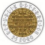 25 Euro Niob Europäische Satellitennavitgation Wertseite e1330501880204 Österreichische Bimetallmünzen