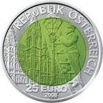 25 Euro Niob Faszination Licht Wertseite e1330501854424 Österreichische Bimetallmünzen
