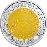 25 Euro Niob Jahr der Astronomie Wertseite e1330501788652 Österreichische Bimetallmünzen
